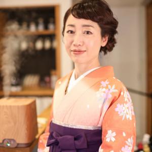 卒業袴 先生も多いです。