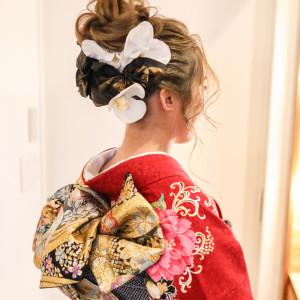造花と和紙を使用してます