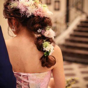 カラードレス たまねぎヘア